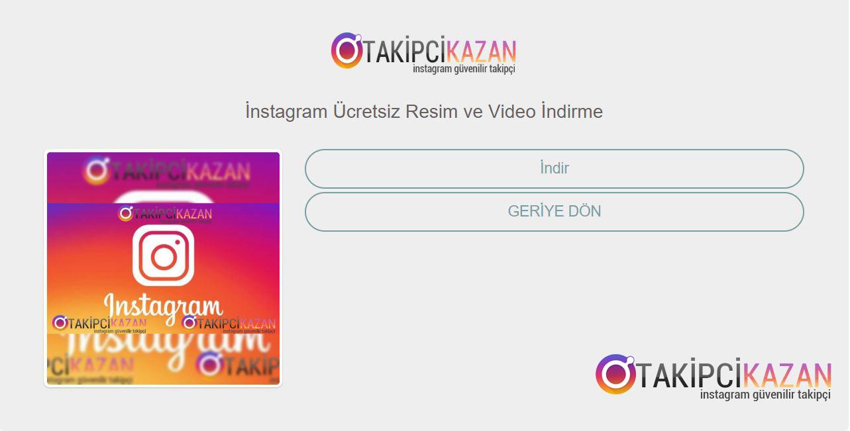instagram resim video indirme