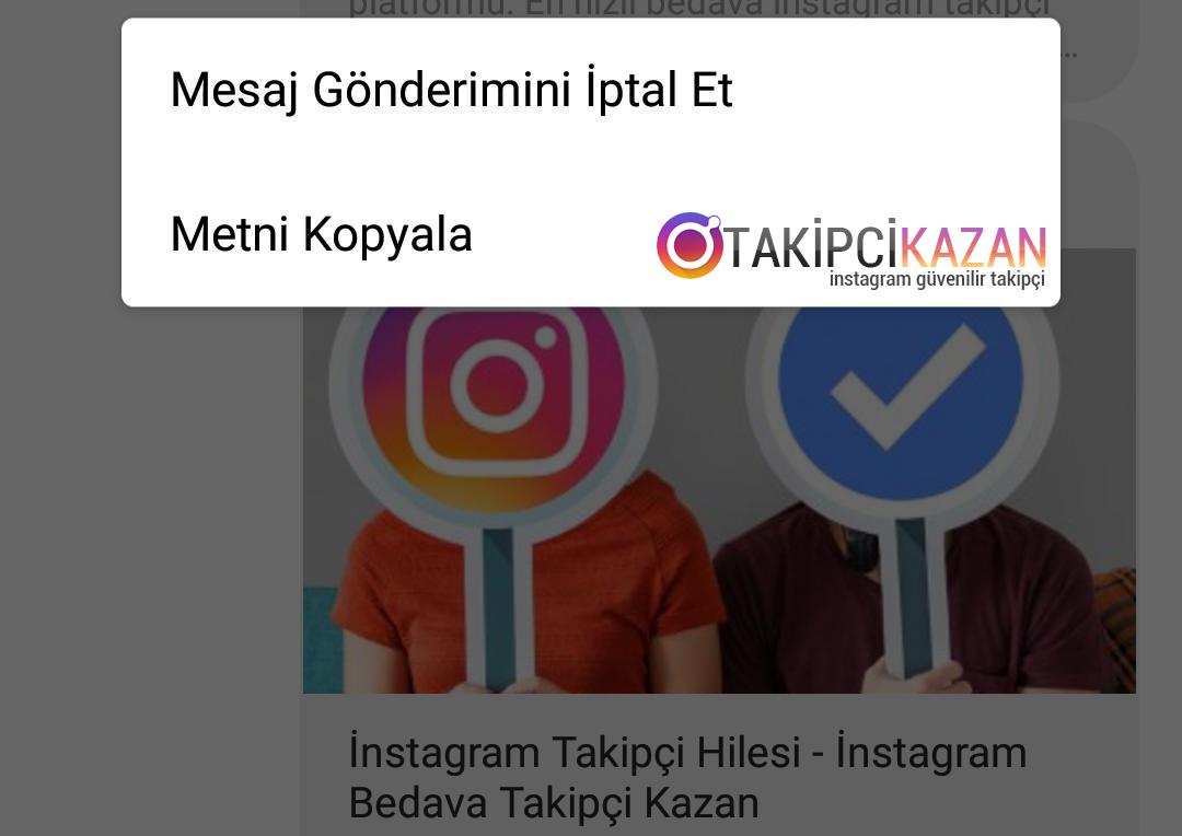 instagram mesaj silme