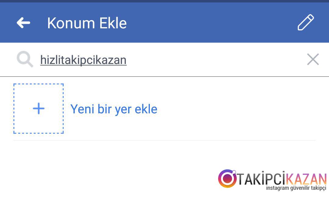 instagram yeni konum ekleme
