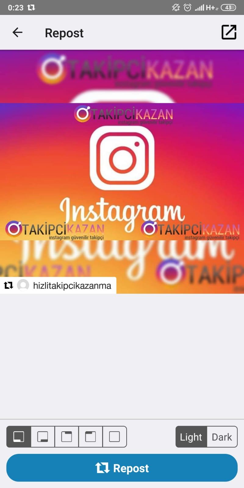 instagramda repost nasıl ypaılır