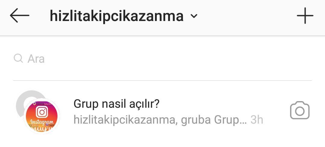 instagram dm gruba kişi ekleme