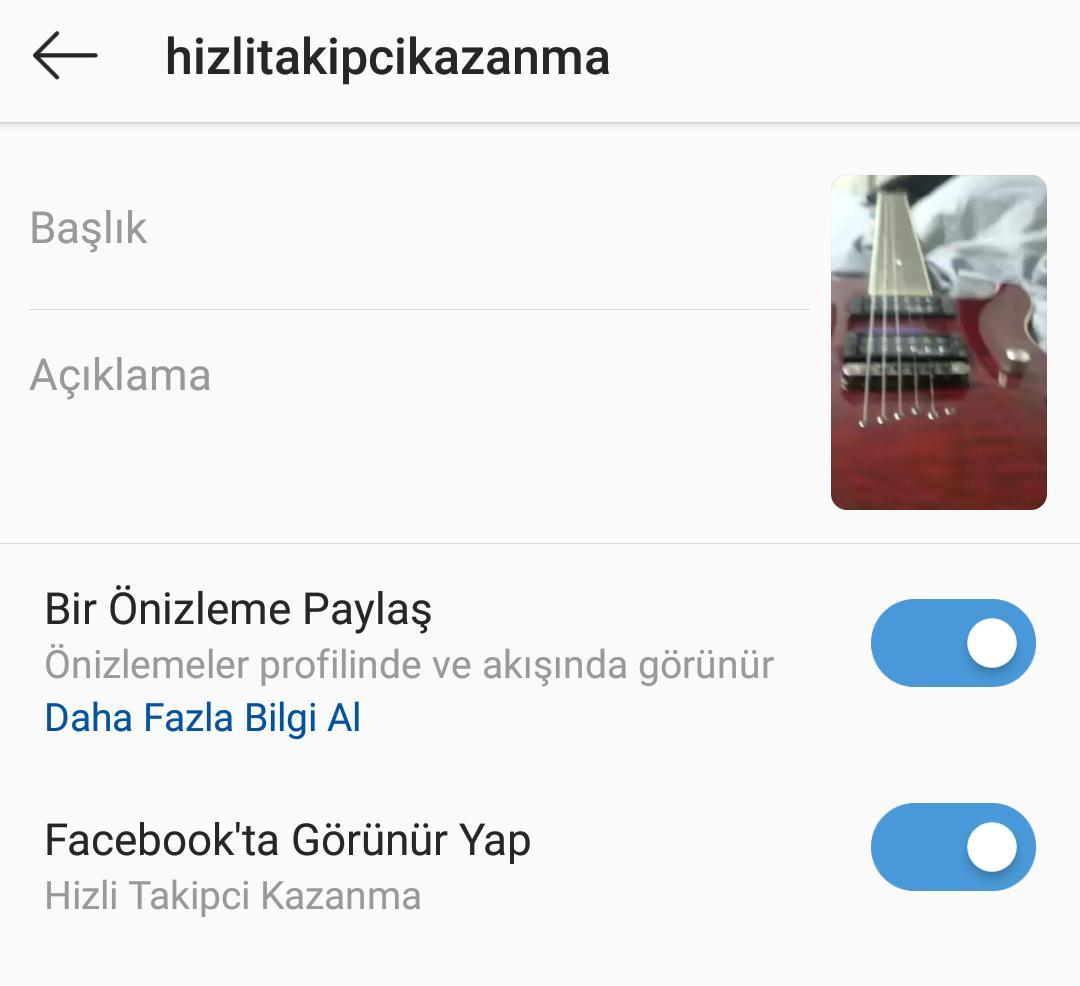 instagram ig tv videolarını profilde paylaşma
